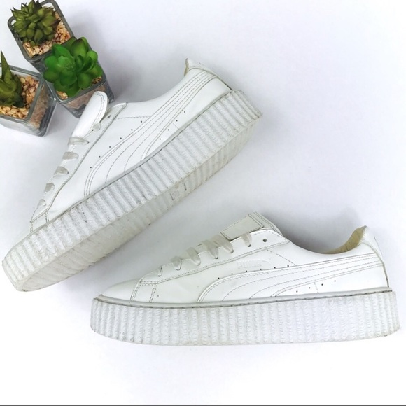 huge selection of 0ee15 7097b Puma x Rihanna Fenty White Patent Creeper Sneakers